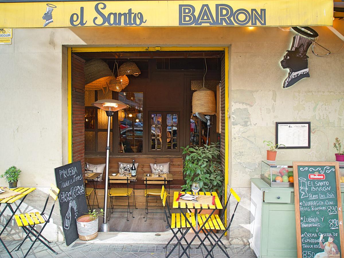 Restaurante el Santo Barón en Madrid.
