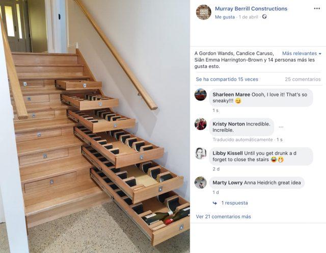Transforme las escaleras de su casa en una bodega con capacidad para más de 150 botellas. ¡Qué! 2