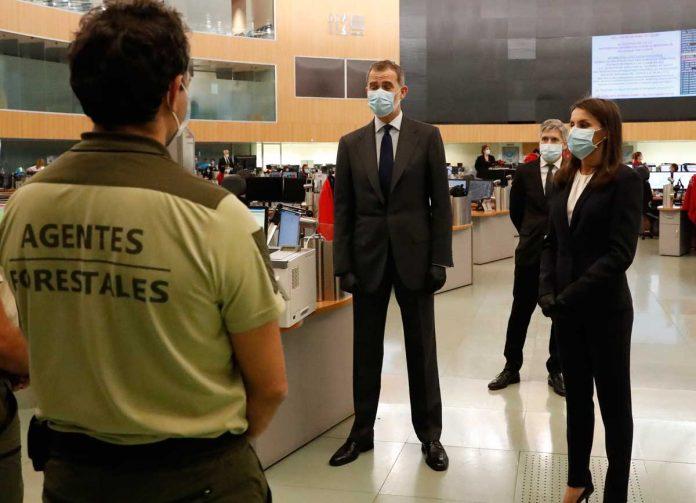 La reina Letizia, con guantes y una máscara, abandona La Zarzuela por primera vez. 12