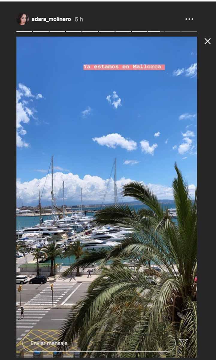 El plan de Adara Molinero para su regreso a Palma de Mallorca con su hijo 4