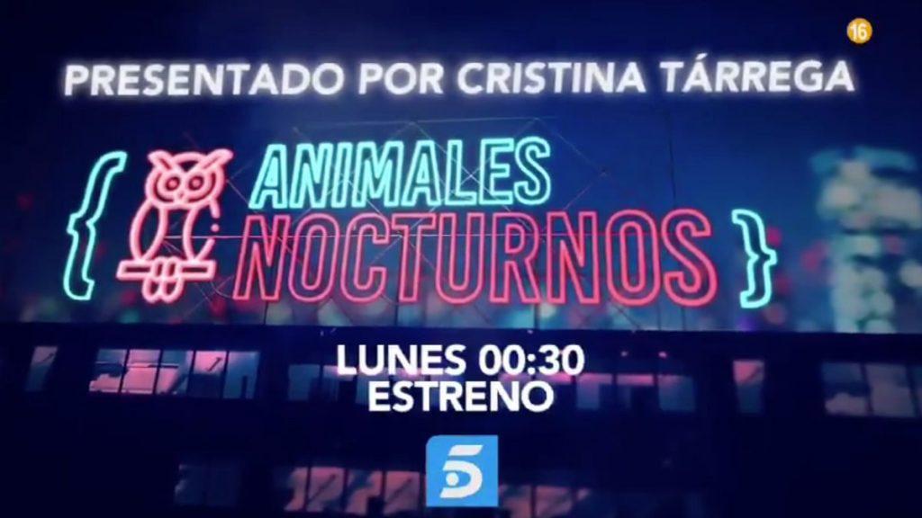 Golpe de Cristina Tárrega en su debut con 'Animales nocturnos' en Telecinco 2