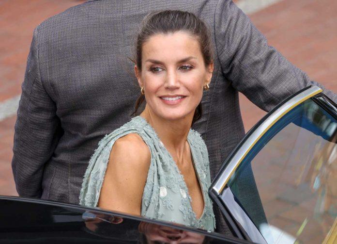 La reina Letizia saca de su maleta un vestido original de Zara en las Islas Canarias 10