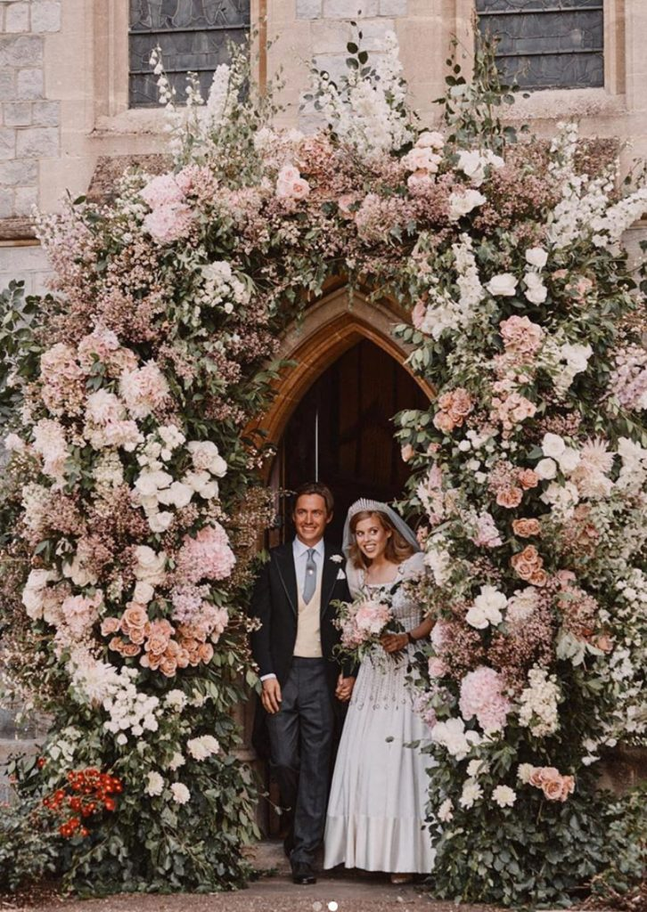 Primeras imágenes de la boda secreta de Beatriz de York y Edoardo Mapelli 1