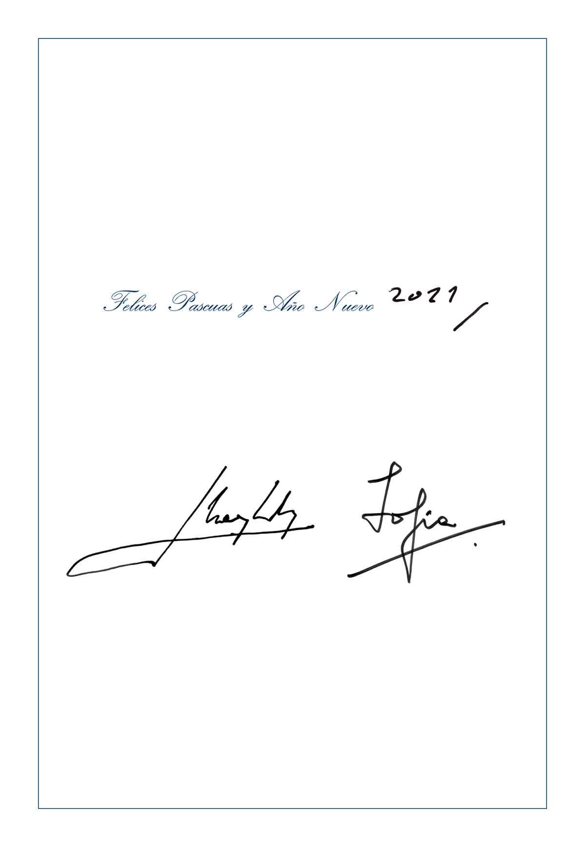 Don Juan Carlos felicita la Navidad con la Reina Sofía a pesar de la distancia 2