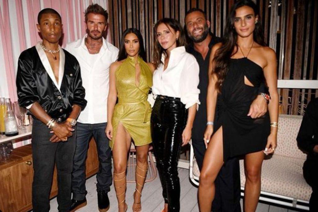 Victoria y David Beckham van de fiesta con Kim Kardashian y Maluma 2