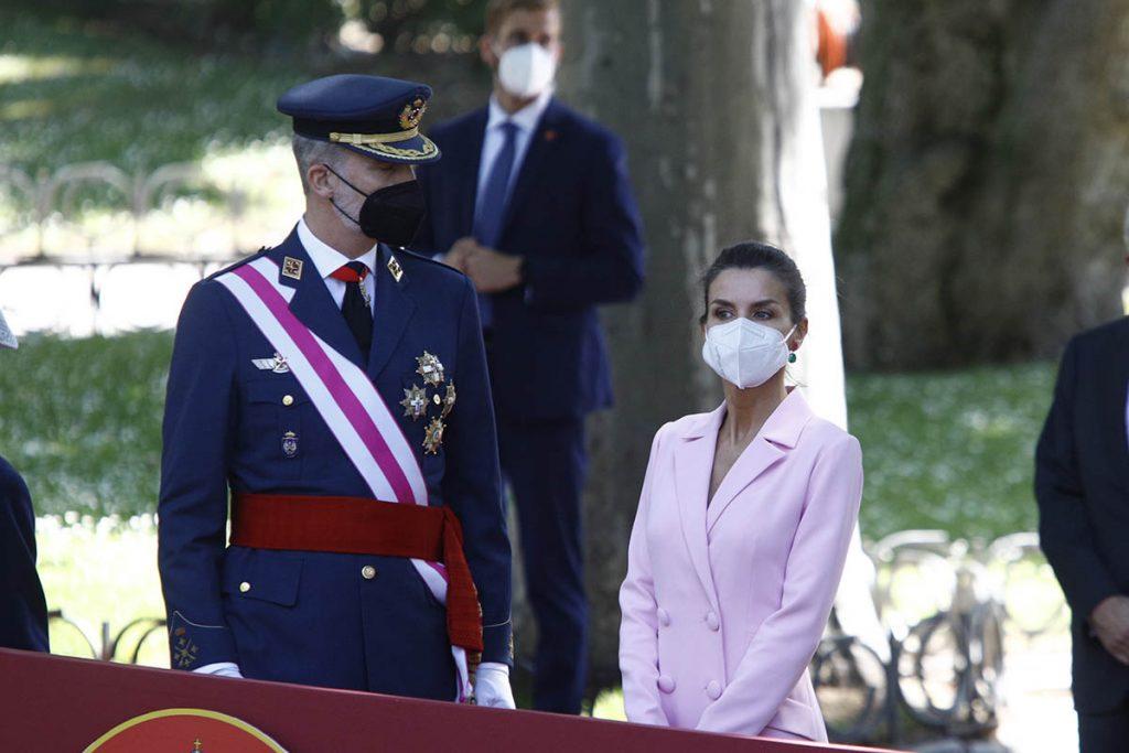 El rey Felipe, vacunado contra el coronavirus en el WiZink Center de Madrid 2