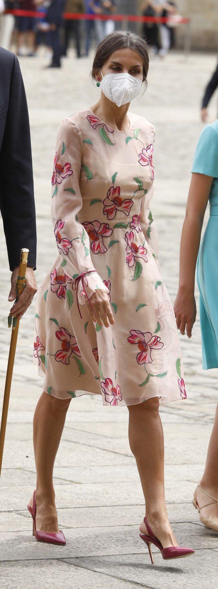 El deseado bolso rosa que arrasa Nueva York con el que florece Letizia en Santiago de Compostela 6