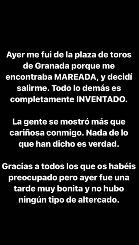 Ana Soria aclara su inesperada salida de la corrida de Enrique Ponce 1