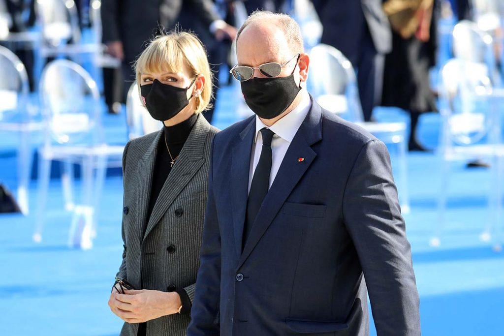 Charlène y Alberto de Monaco recuerdan a las víctimas del atentado de Niza 1