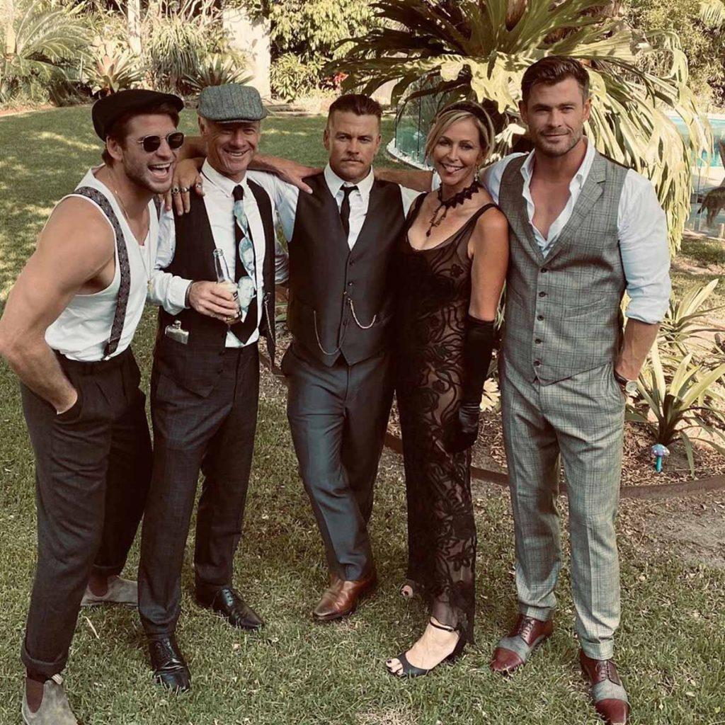 Elsa Pataky y Chris Hemsworth reviven los locos años 20 durante una fiesta familiar 1