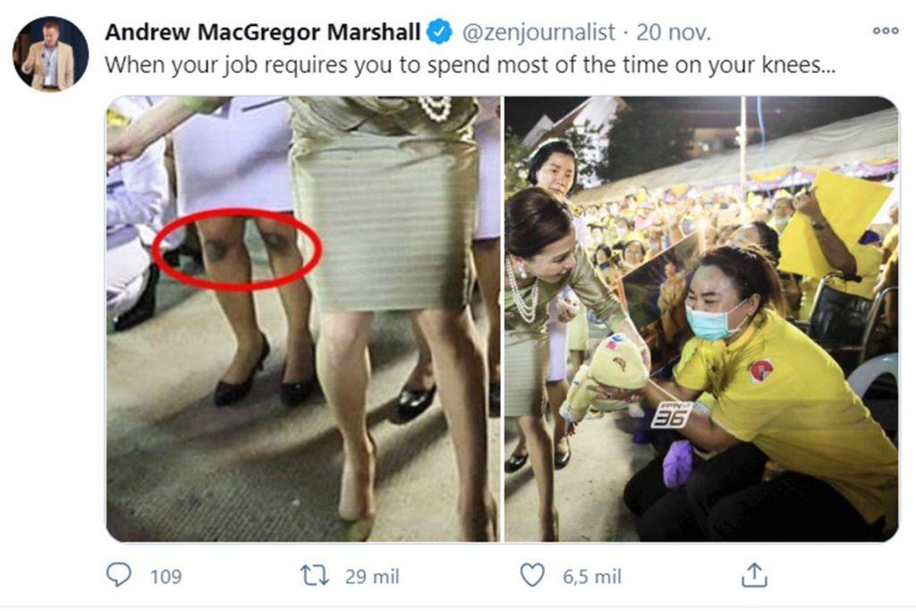 La escandalosa imagen de la escolta de la reina de Tailandia que ha dado la vuelta al mundo 1