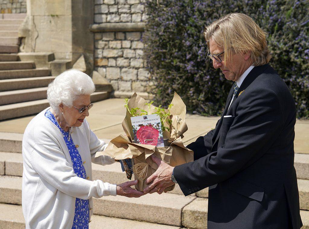 La reina Isabel planta la rosa del 'Duque de Edimburgo' cuando su marido hubiera cumplido 100 años 1