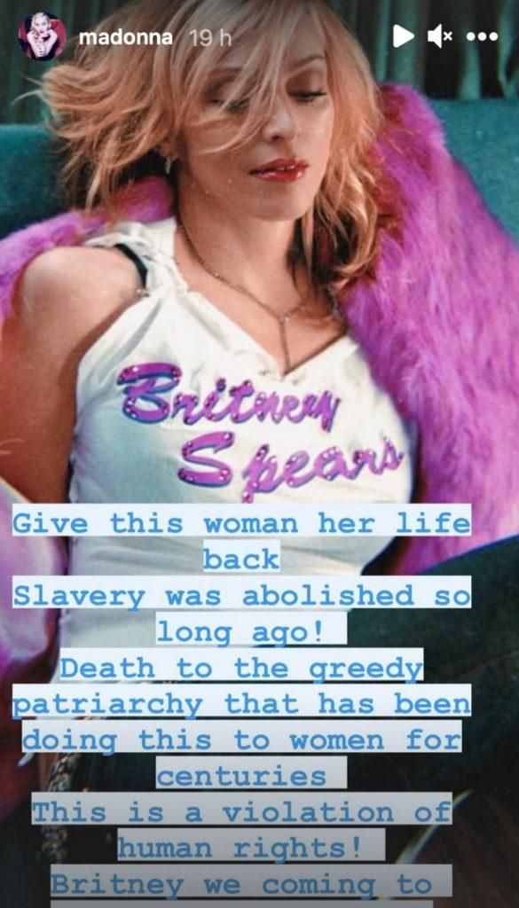 """Madonna sale en defensa de Britney Spears: """"Se están violando los derechos humanos"""" 1"""