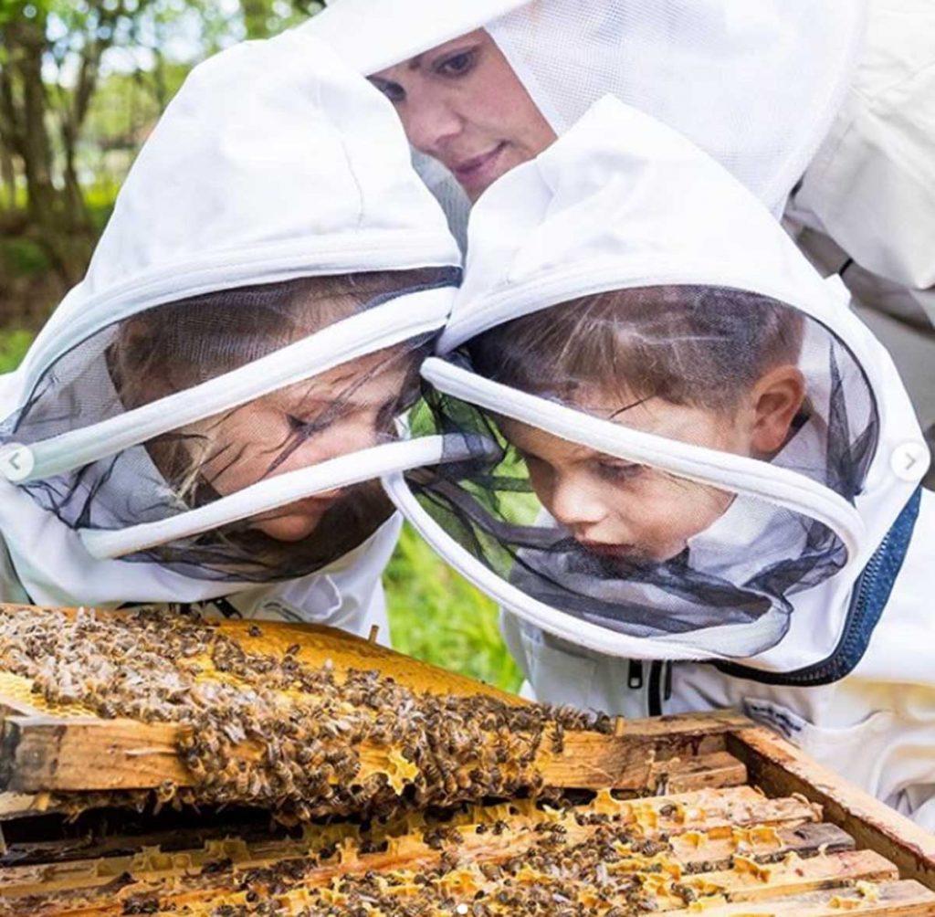 Victoria de Suecia con sus hijos, Estelle y Oscar, disfrutan de la apicultura. 1