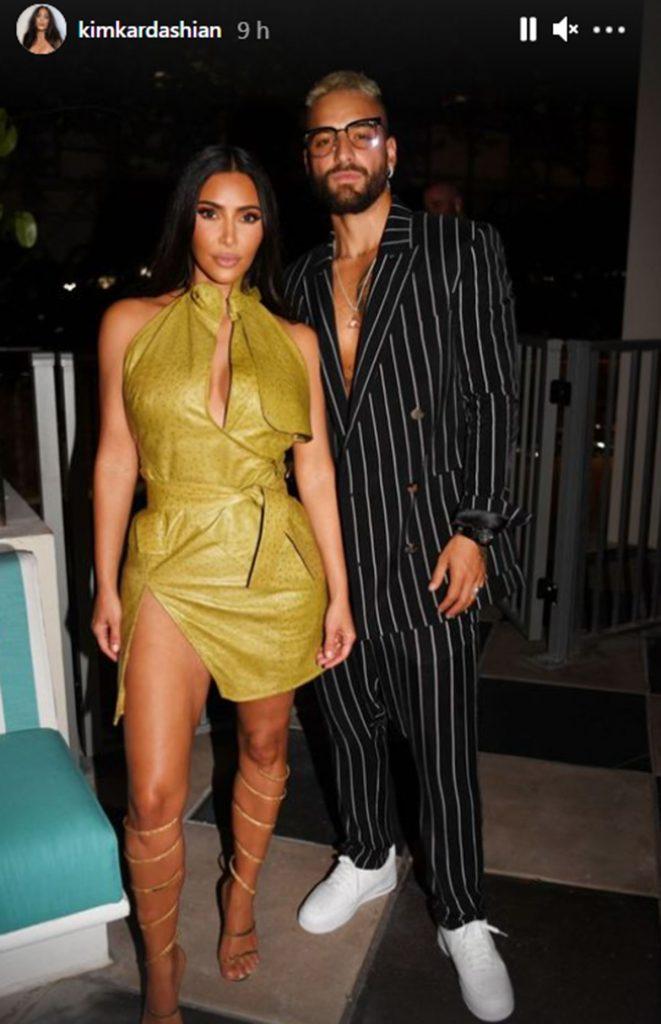 Victoria y David Beckham van de fiesta con Kim Kardashian y Maluma 1